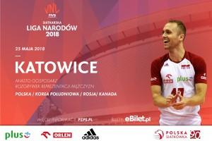 Liga Narodów w Spodku 2018